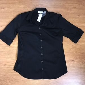 New York and Company Black Button Down Size Small